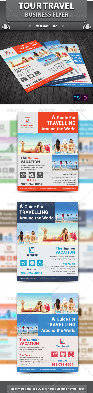 GraphicRiver Tour Travel Business Flyer v2 6400117