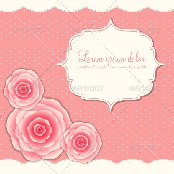 GraphicRiver Valentines Day Card with Rose Flowers 6400211