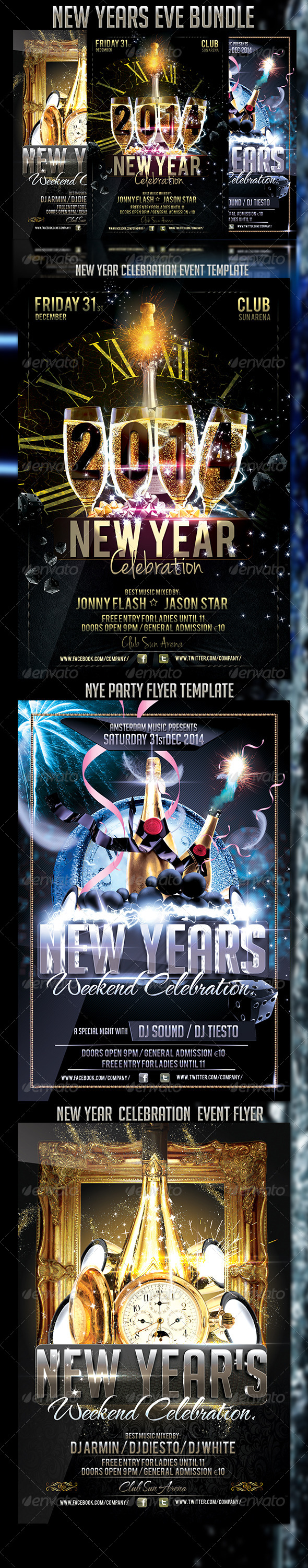 GraphicRiver New Years Eve Bundle 6400218