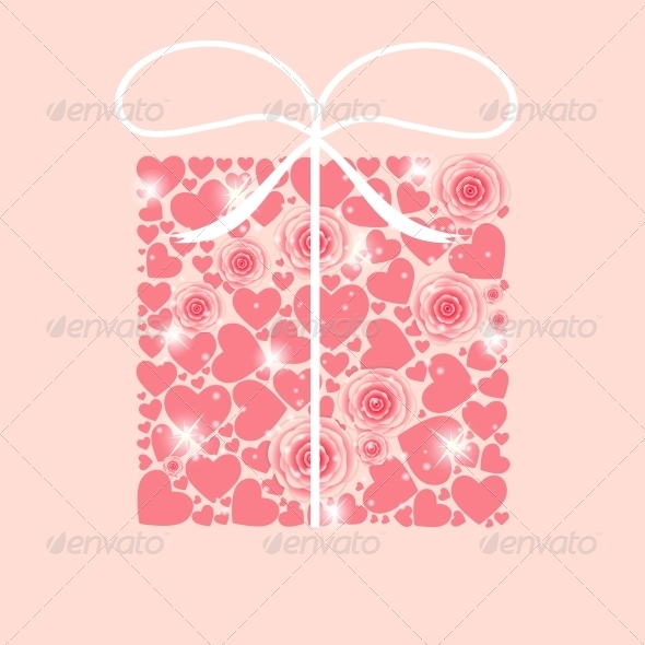 GraphicRiver Valentines Day Heart Background 6400220