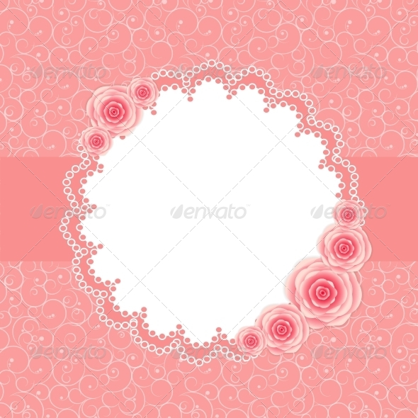 GraphicRiver Frame with Rose Flowers 6400221