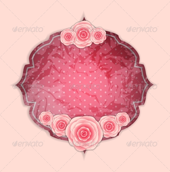 GraphicRiver Frame with Rose Flowers 6400238