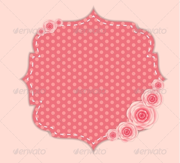 GraphicRiver Frame with Rose Flowers 6400239