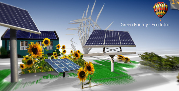 After Effects Project - VideoHive Green Energy Eco Intro 667376