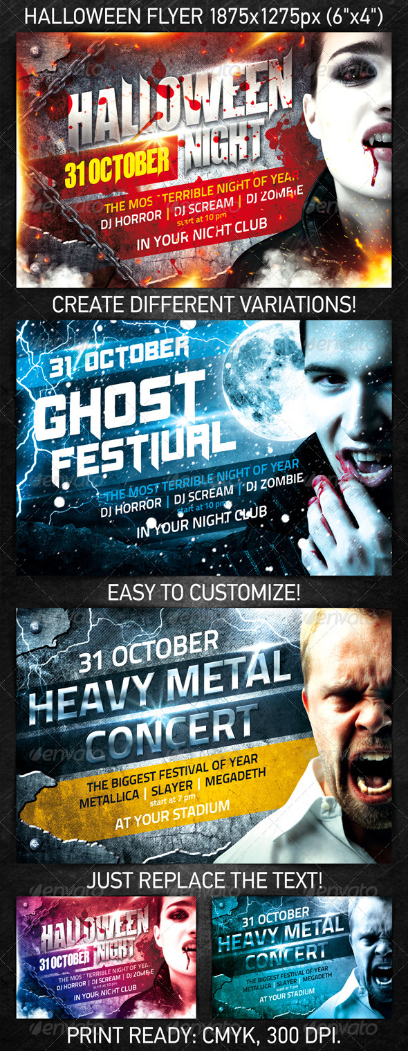 GraphicRiver Halloween Night Flyer 667390
