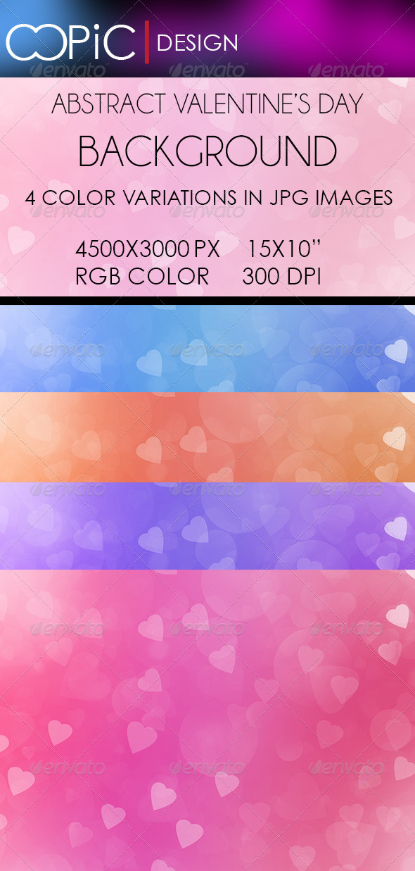 GraphicRiver Abstract Valentine s Day Backgrounds 6400467