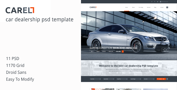 Carell - Premium Car Dealership PSD Template - Business Corporate