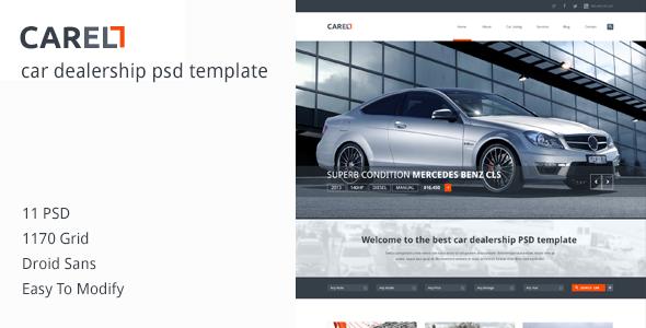 ThemeForest Carell Premium Car Dealership PSD Template 6388077