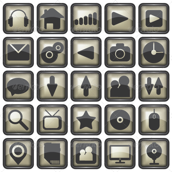 GraphicRiver Set of Web Icons Illustration 6400537