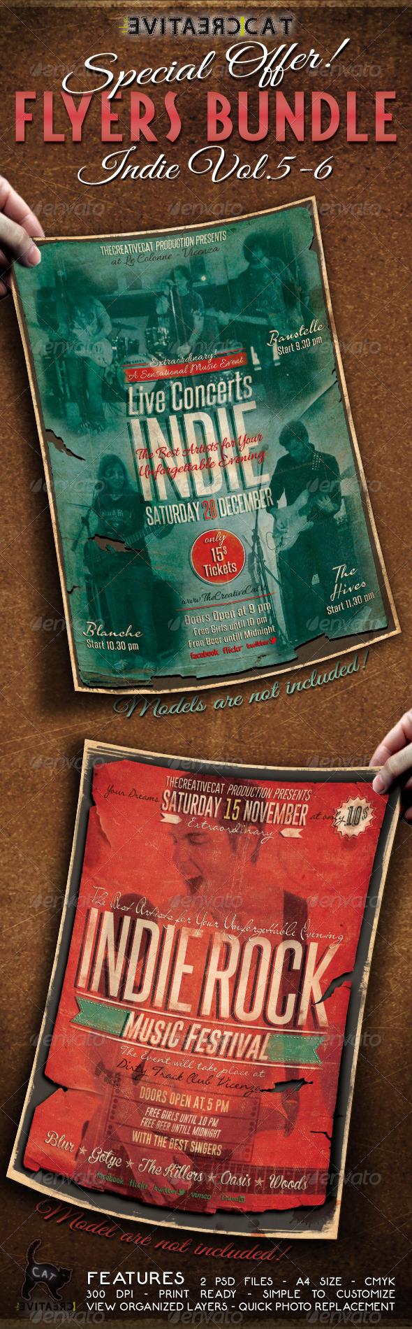 GraphicRiver Indie Flyer Poster Bundle Vol 5-6 6400563