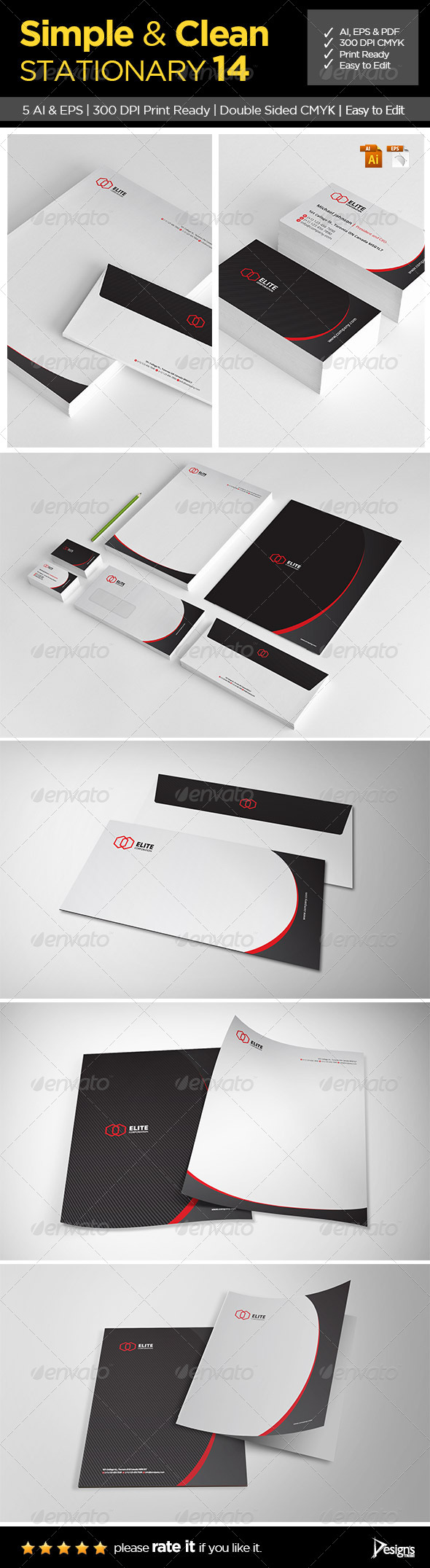 GraphicRiver Simple and Clean Stationary 14 6400601