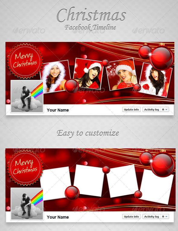 GraphicRiver Christmas FB Timeline V7 6400605