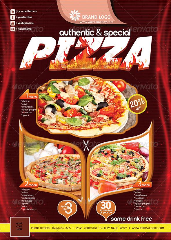 Pizza Flyer (Print Ready) V2 : GraphicRiver