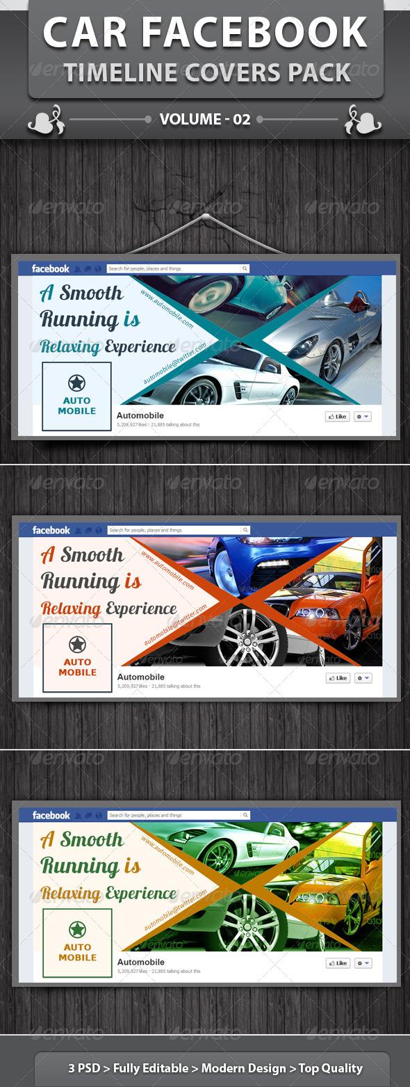 GraphicRiver Car Facebook Timeline Covers Pack v2 6400845
