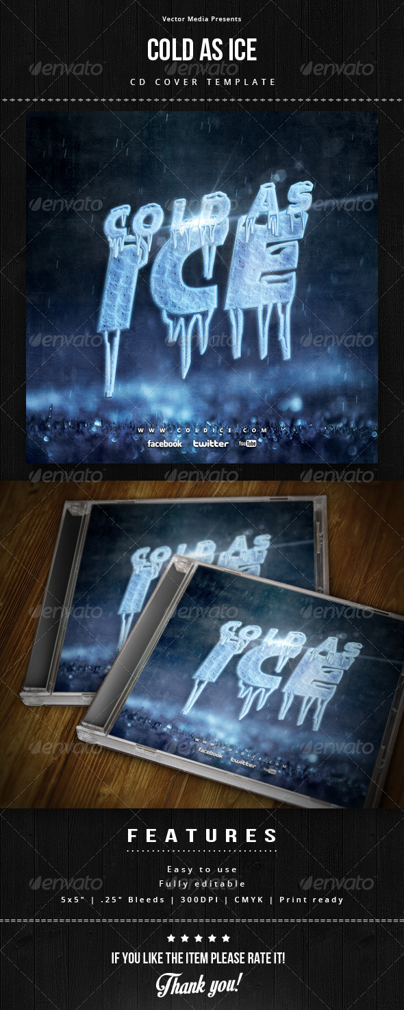 GraphicRiver Cold As Ice Cd Cover 6369378