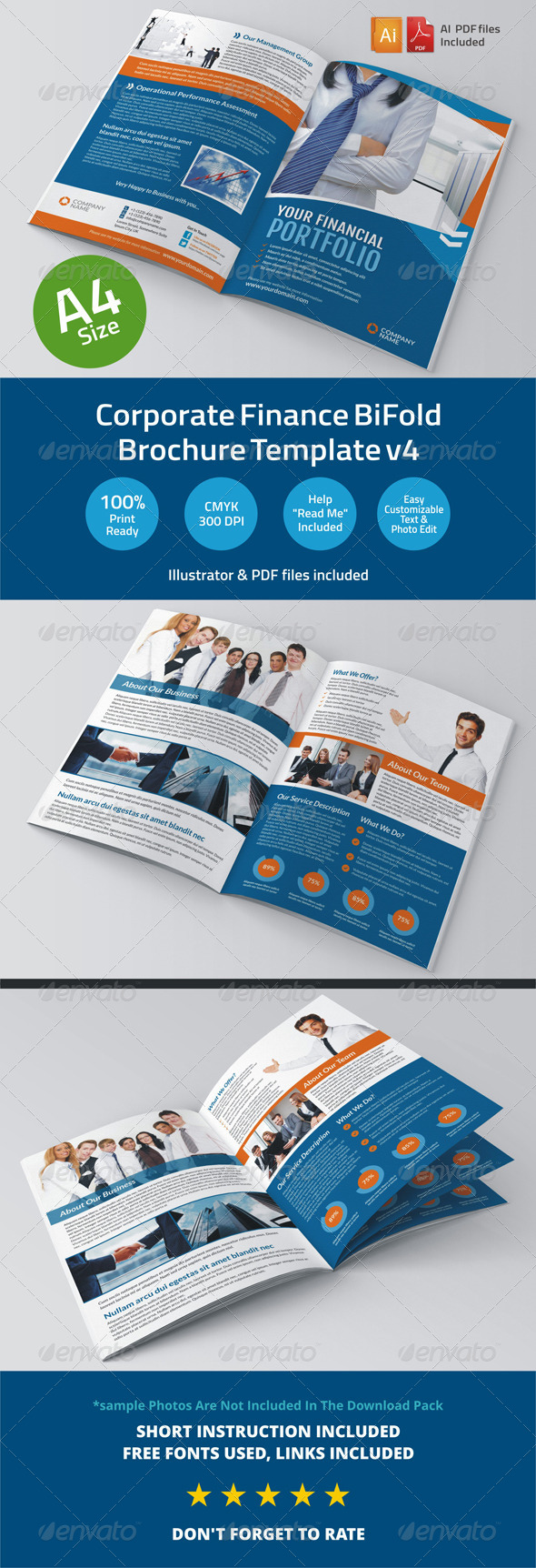 GraphicRiver Corporate Finance BiFold Brochure Template v4 6345768