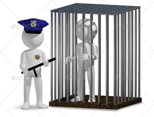 GraphicRiver Cop and Prisoner 6401247