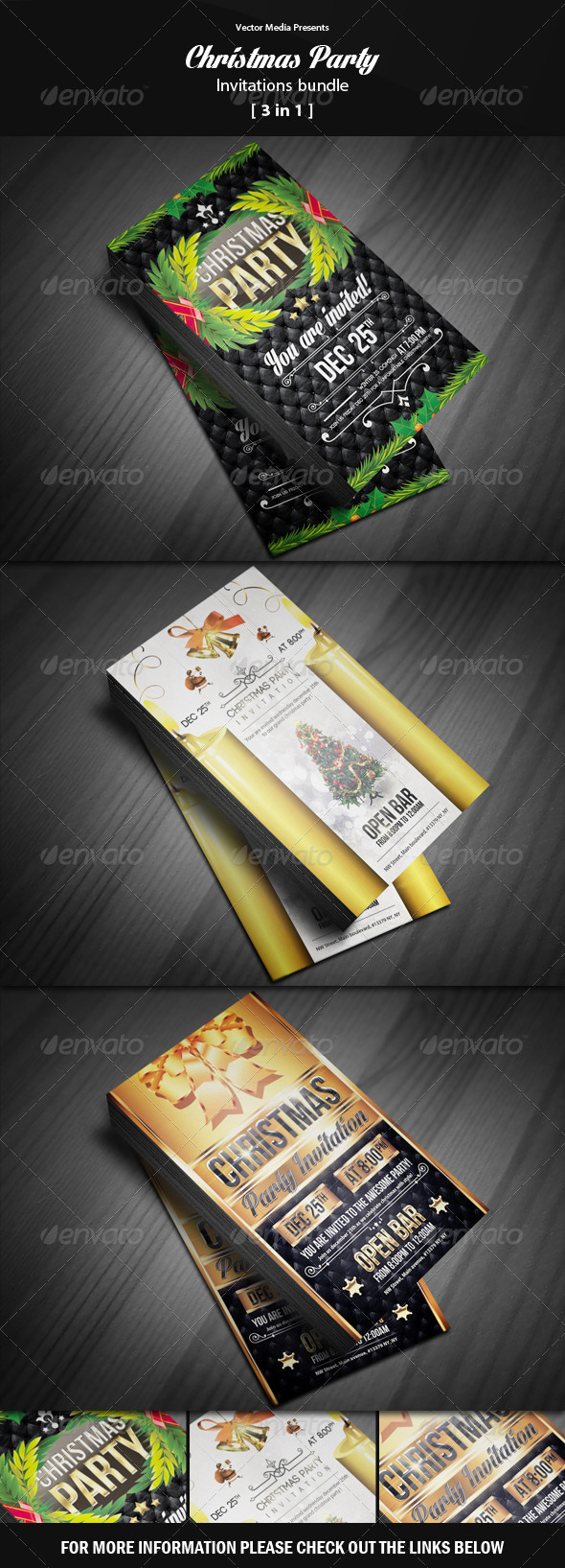 GraphicRiver Christmas Party Invitations Bundle 6401528