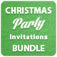 Christmas Party - Invitations Bundle - GraphicRiver Item for Sale