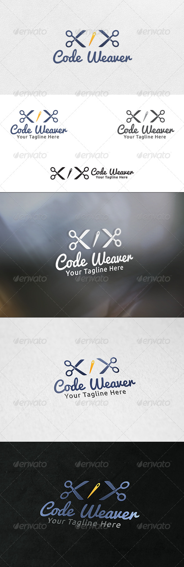GraphicRiver Code Weaver Logo Template 6401625