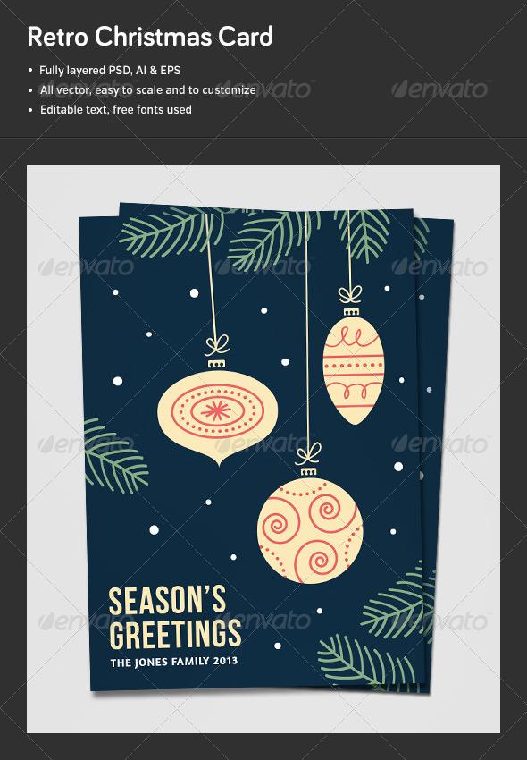 GraphicRiver Retro Christmas Card Background 6401633