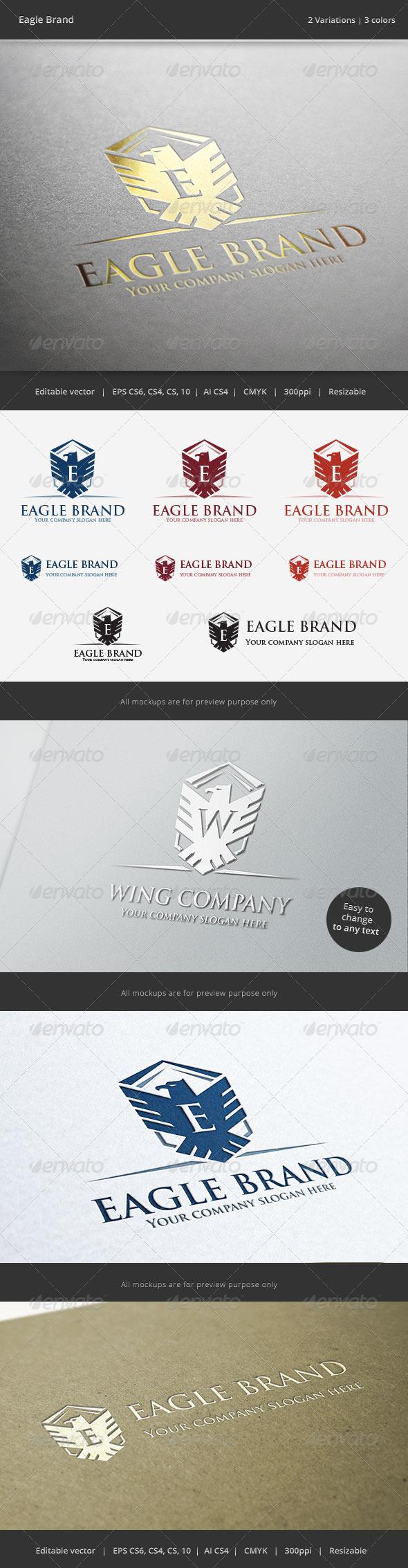 GraphicRiver Eagle Brand Crest V2 Logo 6401687