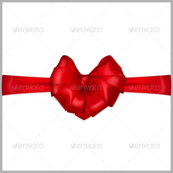 GraphicRiver Red Bow Heart Shaped 6401694