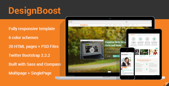 DesignBoost Onepage & Multipage Web Template