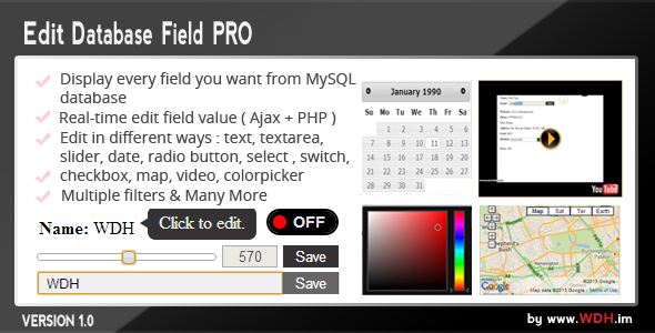 CodeCanyon Edit Database Field PRO Ajax & PHP 6386096
