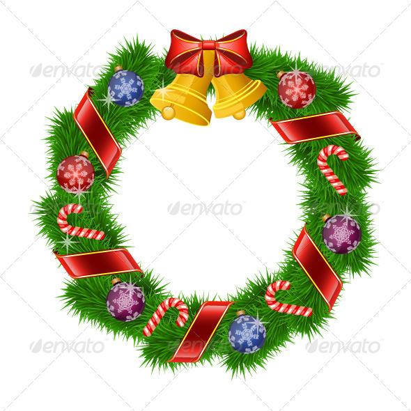 GraphicRiver Christmas Wreath 6401846
