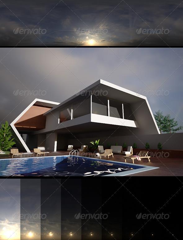 3DOcean Realsky HDRI Sunset 1613 6401876