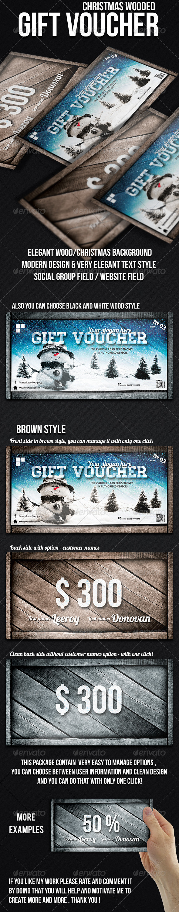 GraphicRiver Christmas Gift Voucher 6402023