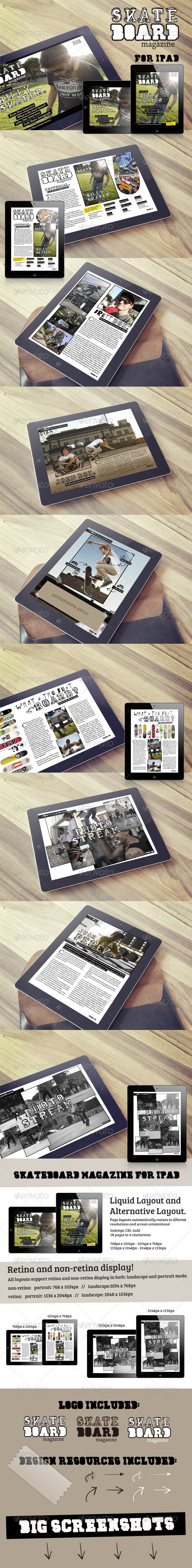 GraphicRiver Skateboard Magazine Template for iPad 6402053