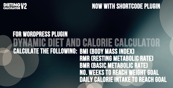 BMI and BMR calorie counter for Wordpress - CodeCanyon Item for Sale