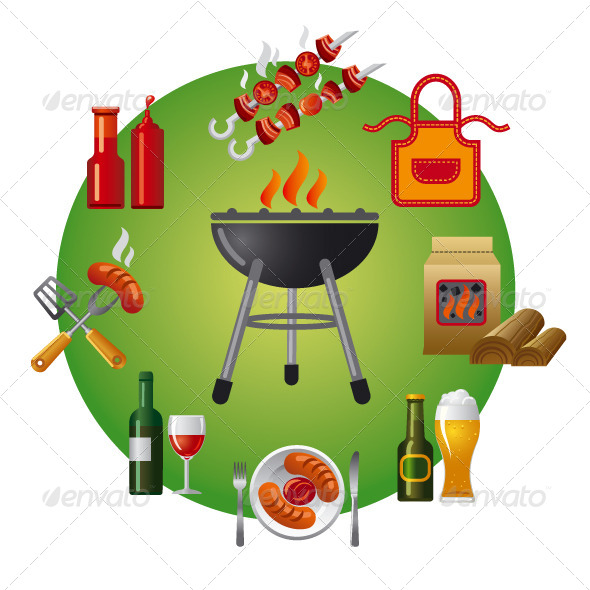 GraphicRiver Barbecue Icon 6402274