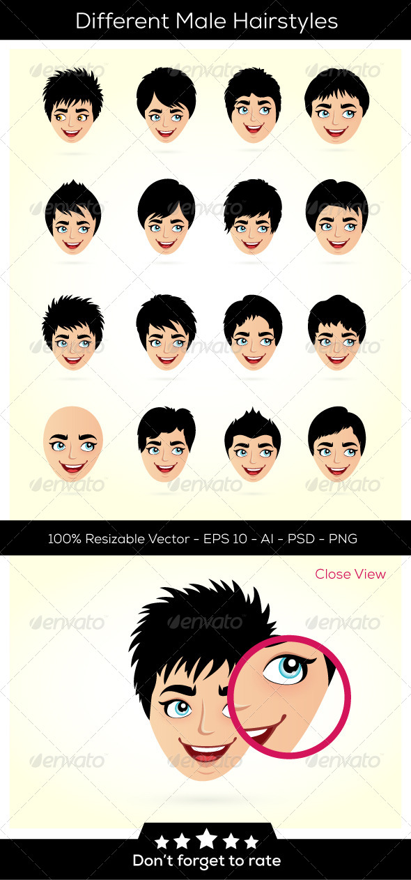 GraphicRiver Hairstyles and Heads 6402328