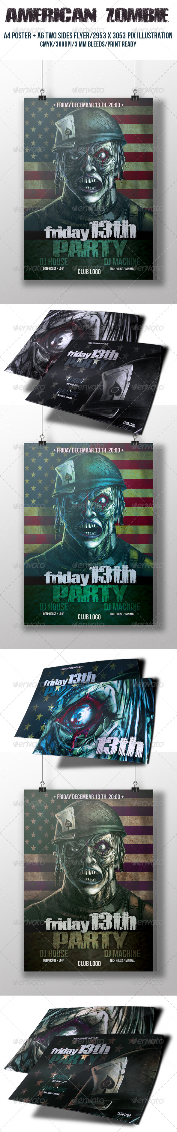 American Zombie Poster - Events Flyers
