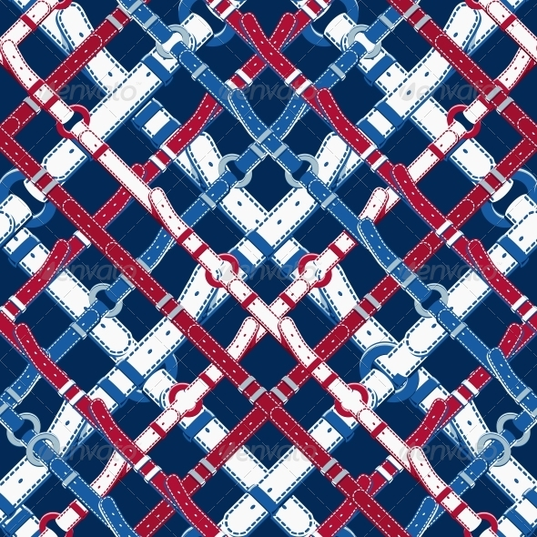 GraphicRiver Pattern in Nautical Style with Belts 6402734