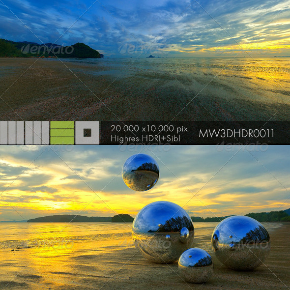 3DOcean MW3DHDR0011 Sunset in Patong Beach Phuket Thailand 6402755