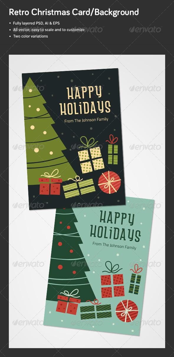 GraphicRiver Retro Christmas Card Background 6402777