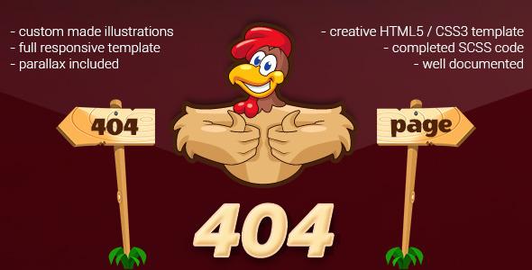 404 Error Cartoon Page
