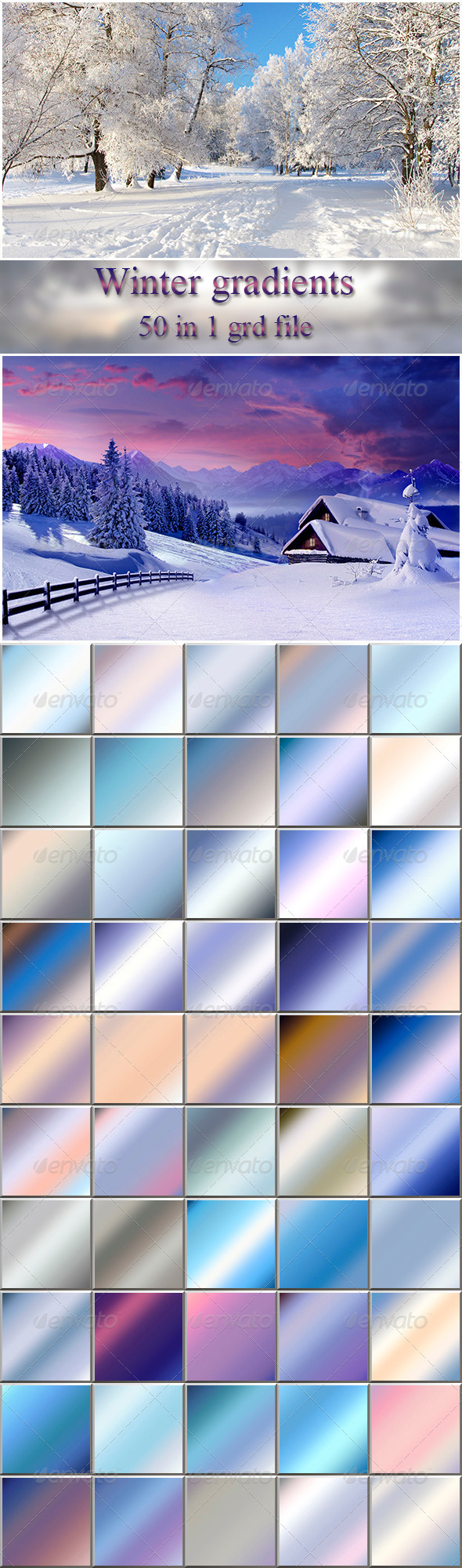 GraphicRiver Winter Gradients 6403001