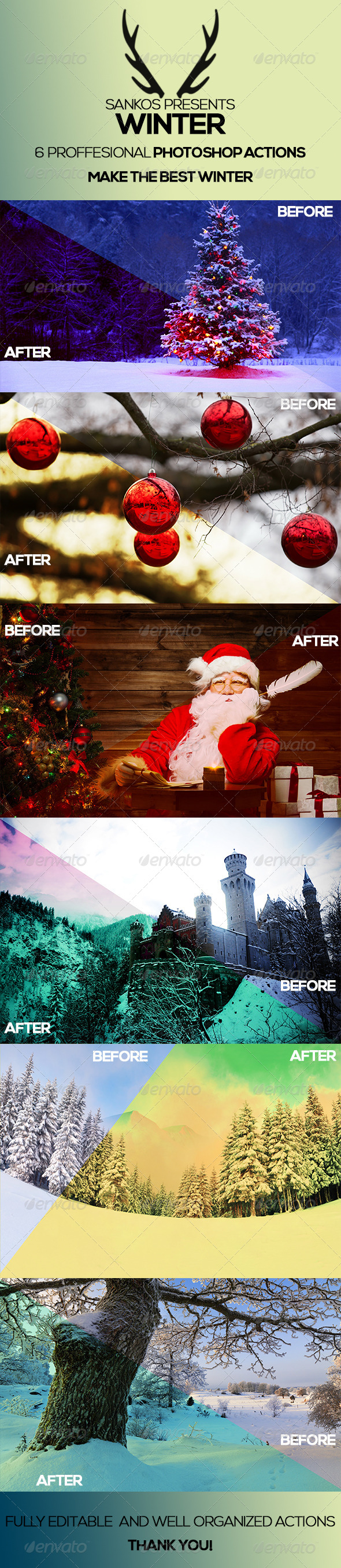 GraphicRiver Winter Photoshop Actions 6404384