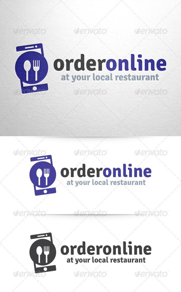 GraphicRiver Order Online Food Logo 6405112