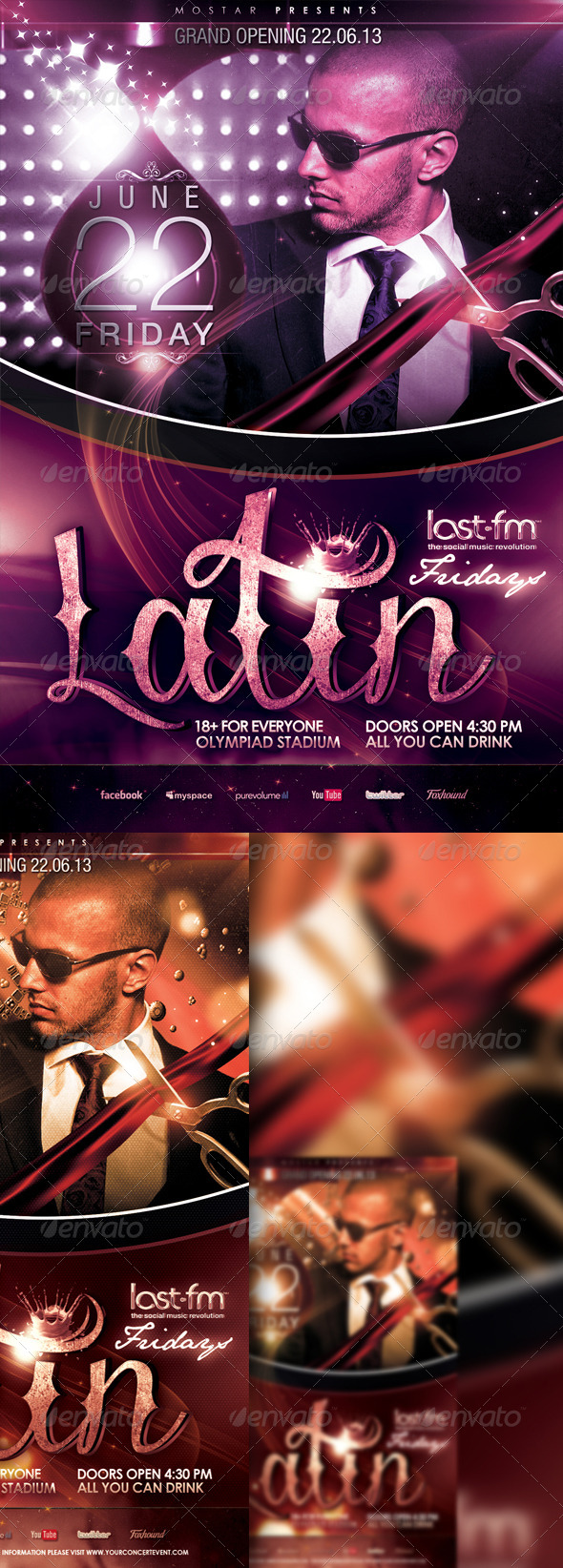 GraphicRiver Latin Event Flyer Template 6405266