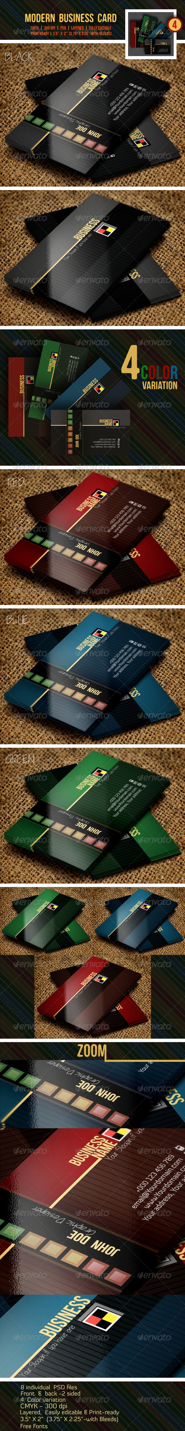 GraphicRiver Modern Business Card 6405299