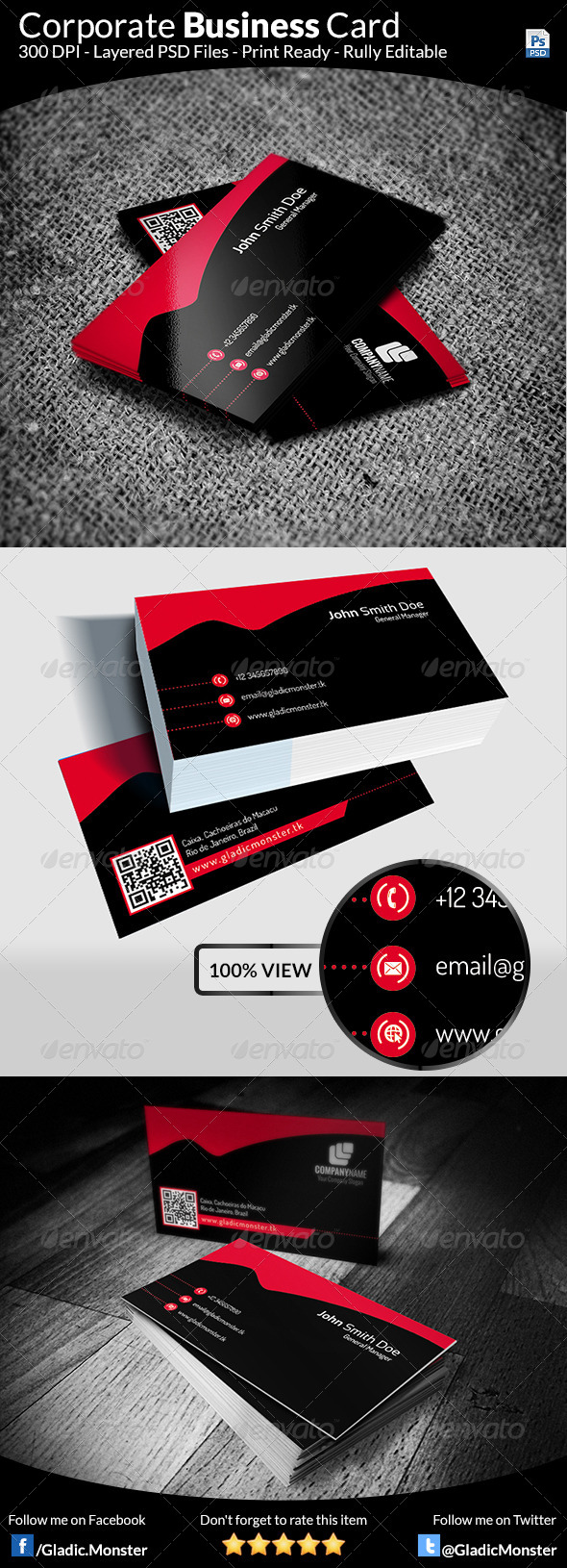 GraphicRiver Corporate Business Card v-1 6405540