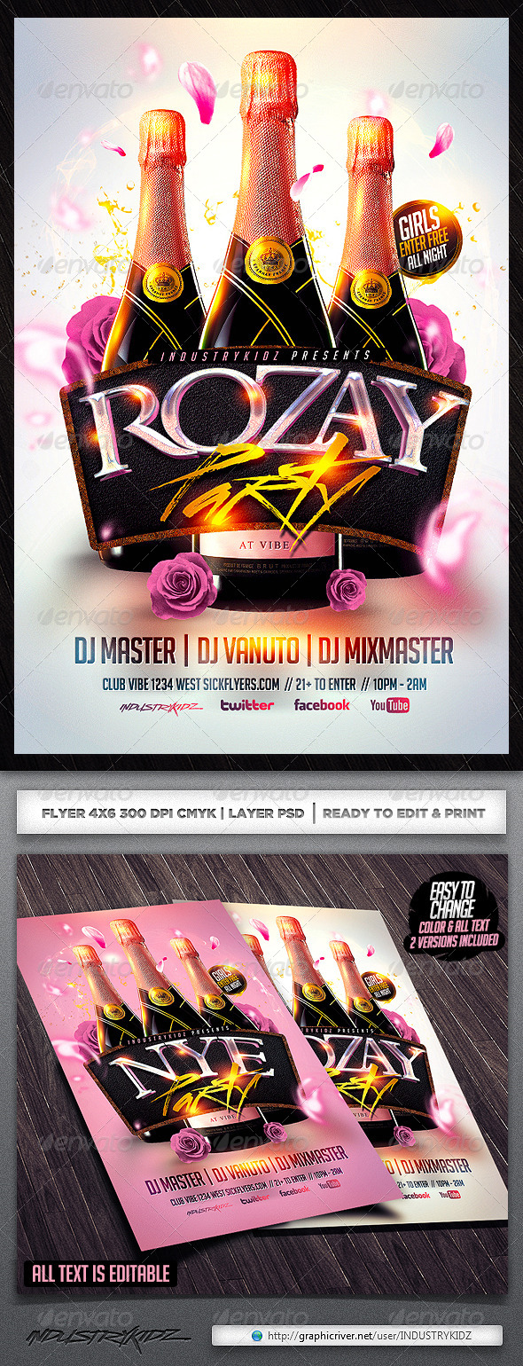 Rozay Flyer Template  - Clubs & Parties Events