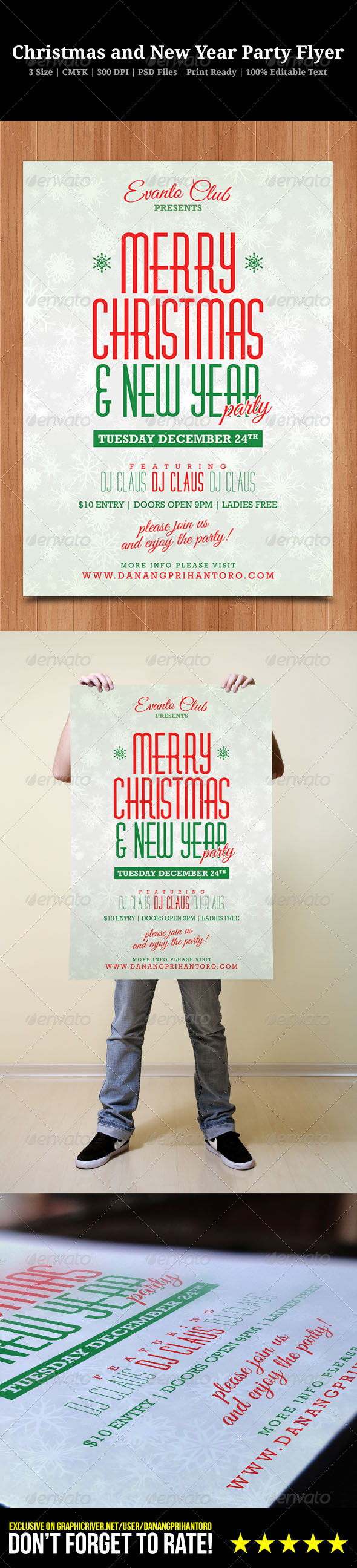 GraphicRiver Christmas and New Year Party Flyer 6405770