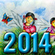 2014 Artistic Wall Calendar (4 Pages) - GraphicRiver Item for Sale
